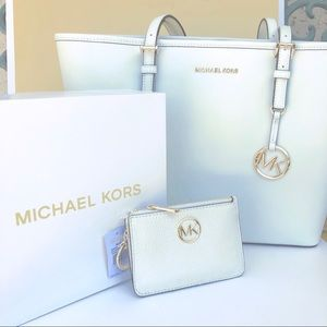 2PCS MICHAEL KORS Tote and mini wallet key chain